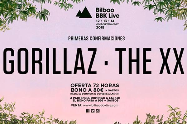 The XX y Gorillaz, primeros cabezas del Bilbao BBK Live 2018