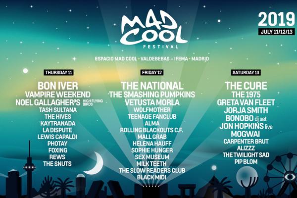 The Smashing Pumpkins, Teenage Fanclub y The Hives entre las primeras confirmaciones de Mad Cool 2019